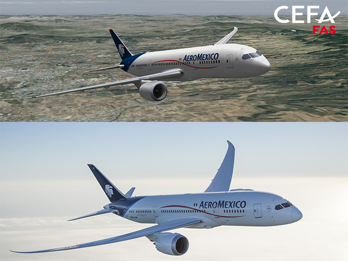 Mexico's flagship airline enhances flight data analysis with leading animation software CEFA FAS