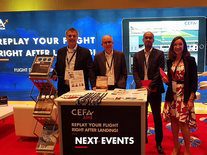 Meet CEFA Aviation's safety & pilot training experts in the 2nd semester 2019 at the next trade shows & aviation conferences!