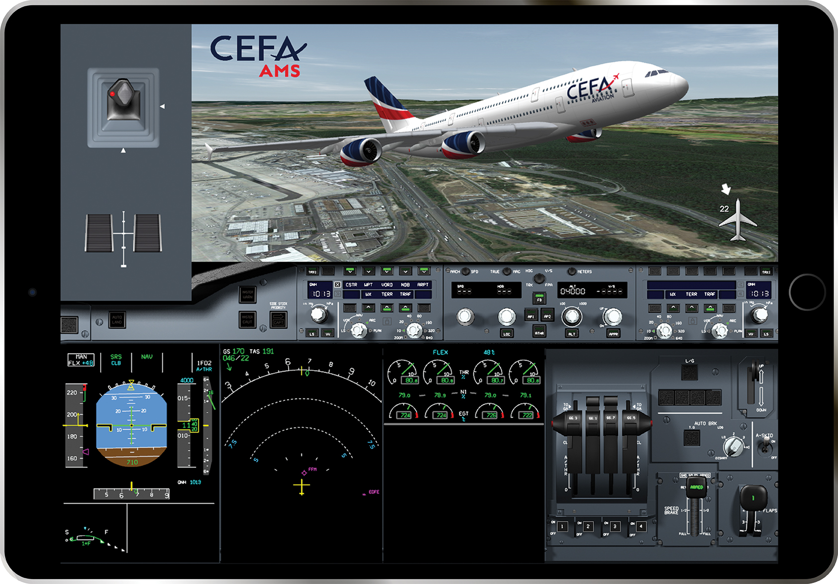 A world premiere: Pilot training feedback right after landing with CEFA AMS (Aviation Mobile Services)