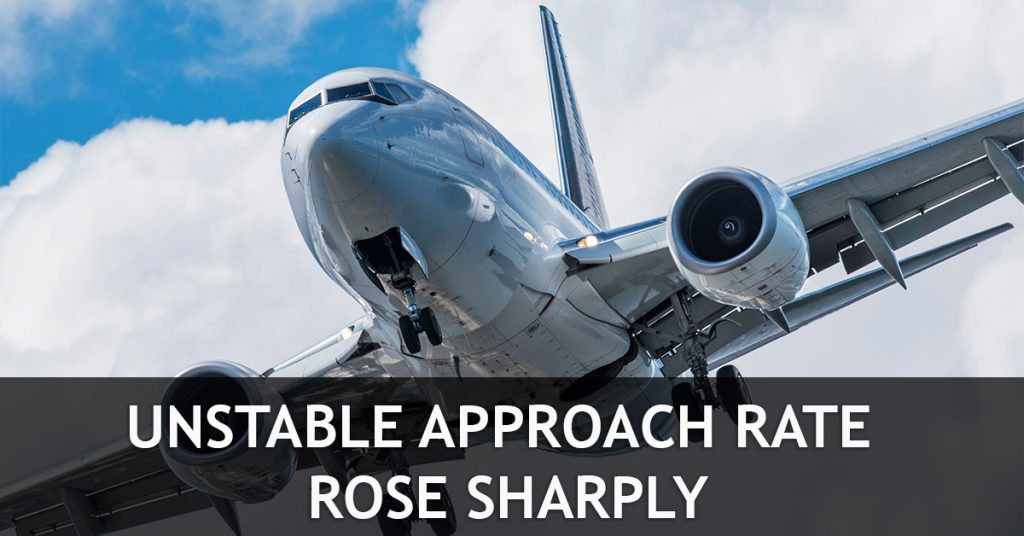 Unstable approach rate rose sharply Unstable Approach rate rose sharply Unstable approach rate rose sharply