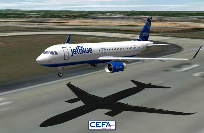 jetBlue Airways chooses CEFA Flight Animation System